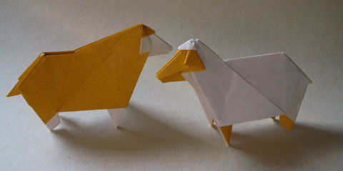 簡単 折り紙 羊の折り紙 : khlgarden.blog.so-net.ne.jp